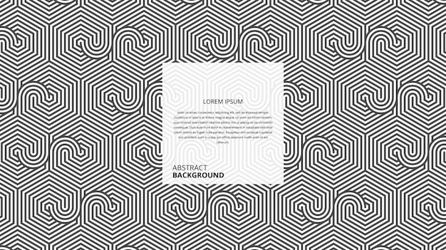Padrão de linhas circulares hexagonais geométricas abstratas