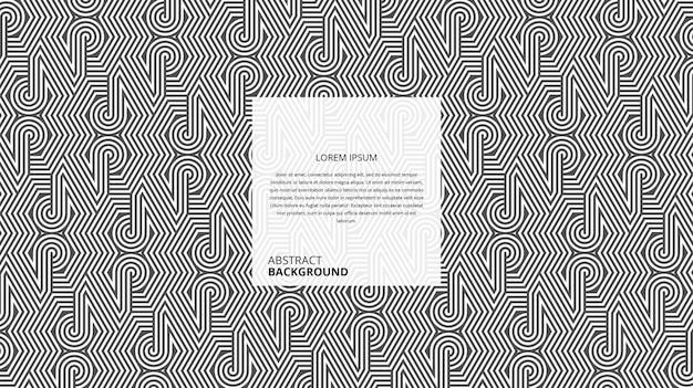 Padrão de linhas de forma circular hexagonal decorativo abstrato