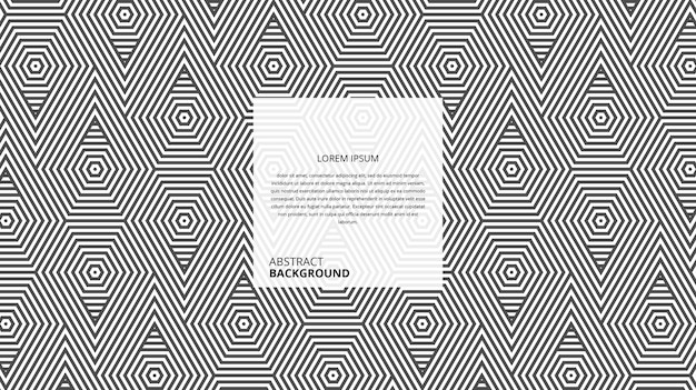Padrão de linhas de forma de triângulo hexagonal geométrico abstrato