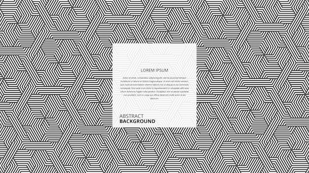 Padrão de linhas de forma hexagonal geométrica abstrata