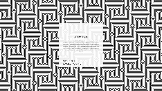 Padrão de linhas de forma quadrada em zigue-zague geométrico abstrato