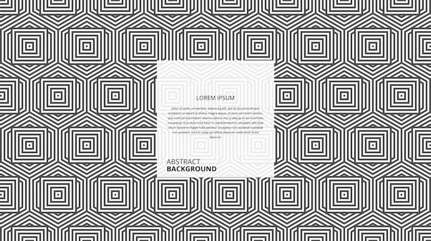 Padrão de linhas de forma quadrada hexagonal geométrica abstrata