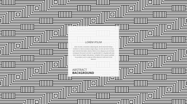 Padrão de linhas geométricas abstratas de forma quadrada