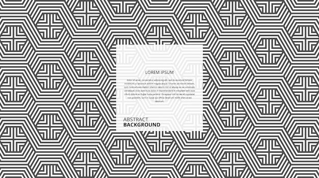 Padrão de linhas geométricas abstratas hexagonal forma quadrada