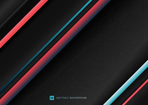 Padrão de linhas geométricas diagonais de listra abstrata
