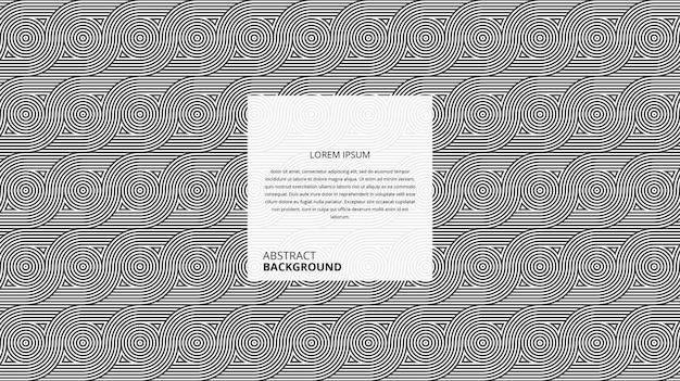Padrão de linhas geométricas onduladas de forma circular abstrata