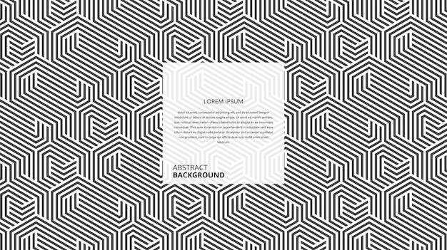 Padrão de linhas hexagonais abstratas