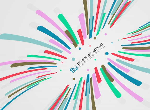 Padrão de linhas listra abstrata de design de movimento colorido