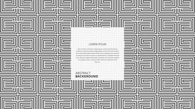 Padrão de linhas quadradas decorativas abstratas