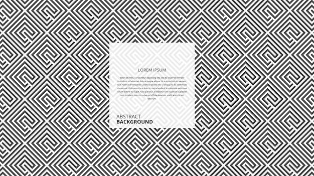 Padrão de linhas quadradas diagonais abstratas