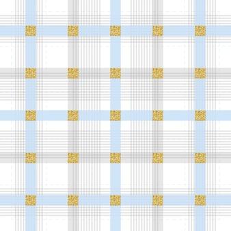 Padrão de listra cinzenta sem costura no fundo branco com brilho quadrado prateado