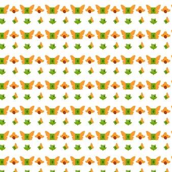 Padrão de livro, livro com design de padrão de ilustração floral