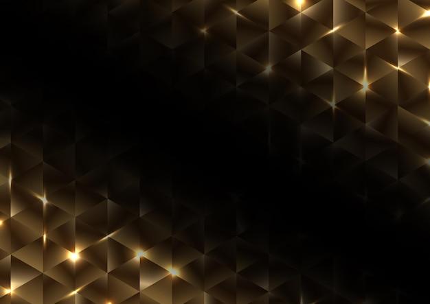 Padrão de luxo abstrato com forma de triângulo dourado