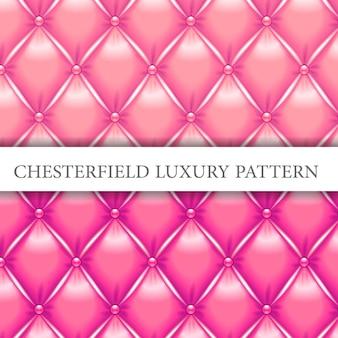 Padrão de luxo chesterfield rosa e magenta
