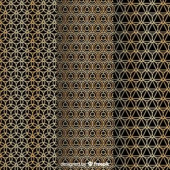 Padrão de luxo dourado e preto