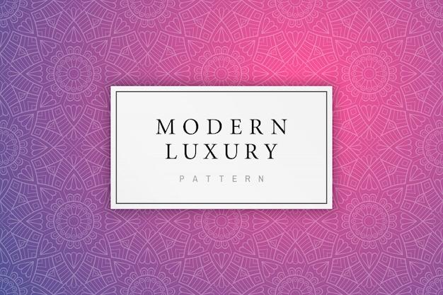 Padrão de luxo moderno com ornamento indiano