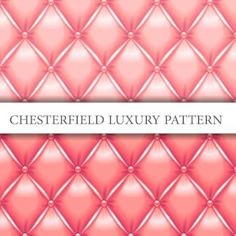 Padrão de luxo rosa bebê e pêssego chesterfield