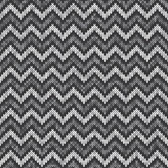 Padrão de malha abstrata chevron. design de suéter de lã para tricô sem costura