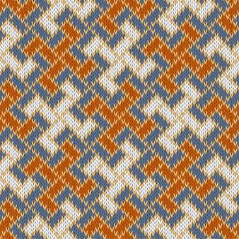 Padrão de malha de lã sem costura eslava
