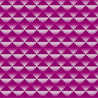 Padrão de malha sem costura abstrato. design de suéter de tricô fair isle