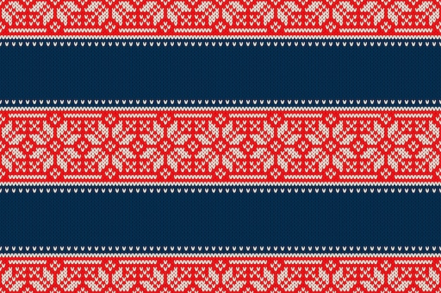 Padrão de malha sem costura de férias de natal com flocos de neve