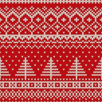 Padrão de malha sem costura de inverno natal estilo escandinavo