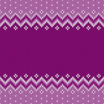 Padrão de malha sem costura tradicional fair isle estilo. plano de fundo festivo com espaço para texto
