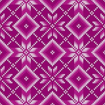 Padrão de malha tradicional fair isle. design de camisola de tricô sem costura