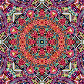 Padrão de mandala abstrato design psicodélico