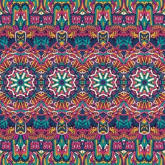 Padrão de mandala abstrato vintage tribal