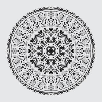 Padrão de mandala arabesco simples para cartão de casamento, convite, panfleto, folheto