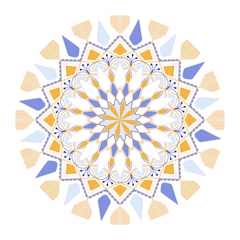 Padrão de mandala colorida em fundo branco