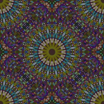 Padrão de mandala de jardim abstrato boêmio
