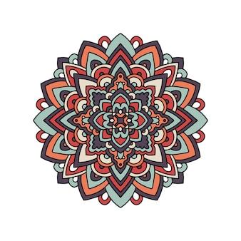 Padrão de mandala de ornamento tribal tapete indiano