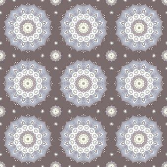 Padrão de mandala desenhada de mão sem costura para impressão em tecido ou papel. elementos decorativos vintage em estilo oriental. islã, motivos árabes, indianos, turcos, otomanos.