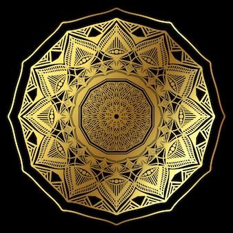 Padrão de mandala dourado clássico