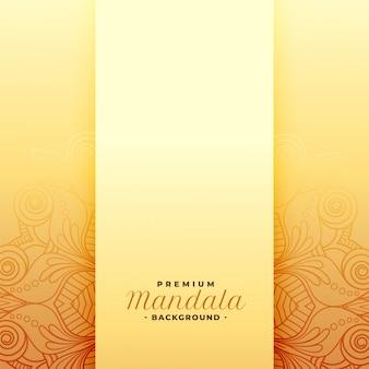 Padrão de mandala dourado premium