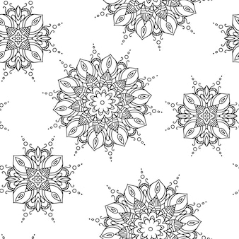 Padrão de mandala. mão desenhada textura decorativa étnica ilustração vetorial eps 10 para seu projeto.