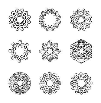 Padrão de mandalas circulares