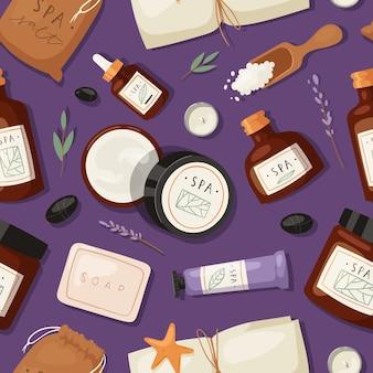 Padrão de marca de spa de cosméticos