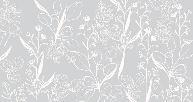 Padrão de mármore floral vintage