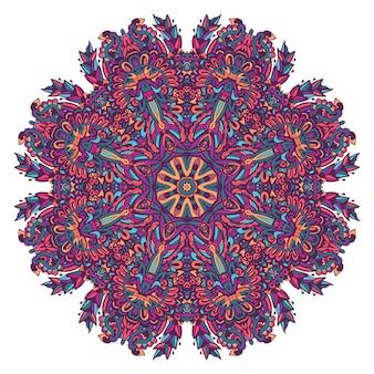 Padrão de medalhão decorativo colorido abstrato.