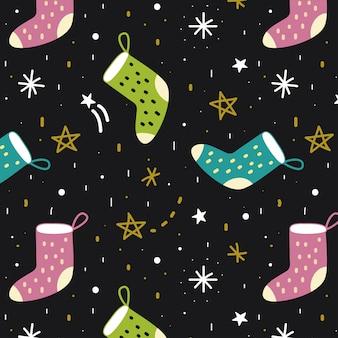 Padrão de meias e estrelas
