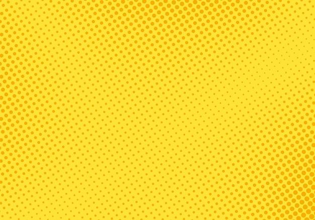 Padrão de meio-tom pop art. textura amarela em quadrinhos. ilustração vetorial.