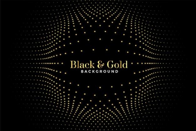 Padrão de meio-tom preto e dourado
