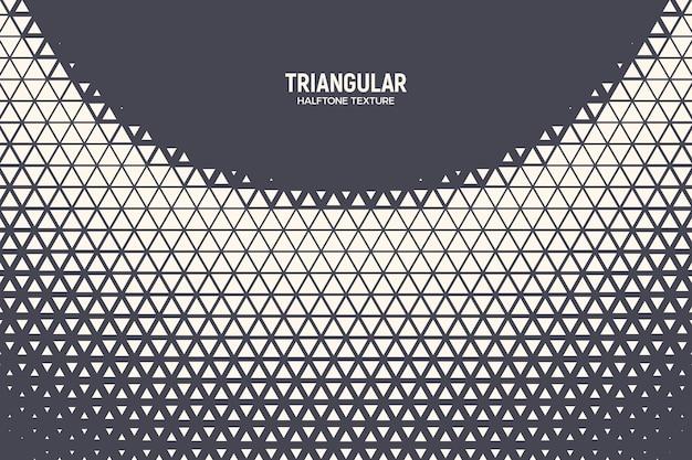Padrão de meio-tom triangular textura de semicírculo geométrico fundo abstrato