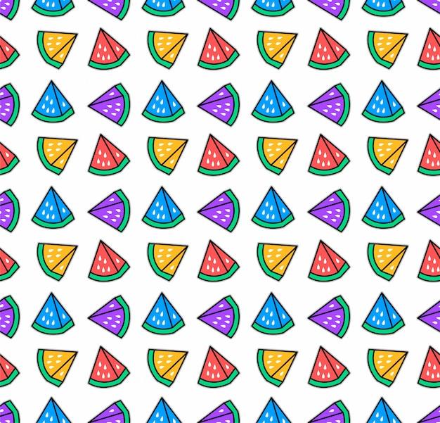 Padrão de melancia colorido sem emenda