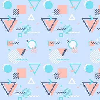 Padrão de memphis com formas geométricas
