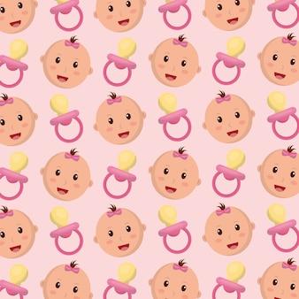 Padrão de menina de chuveiro de bebê