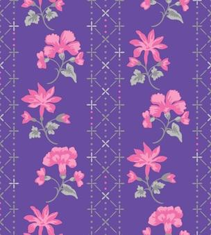 Padrão de moda flor imprimir com a cor da marinha